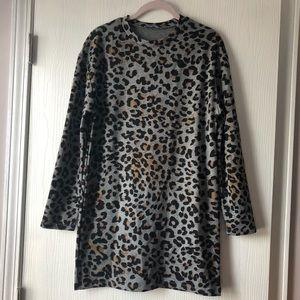 Zara Leopard Sweater Dress